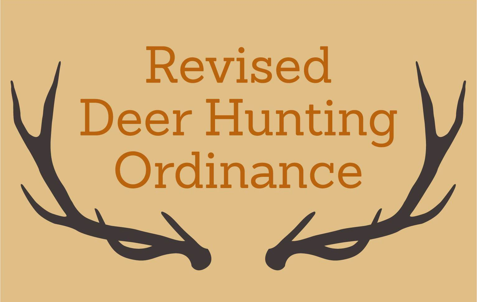 News Section Template - 2018 Deer Hunting Ordinance