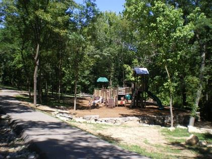 Playground and path at Stoecker Park