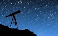 Telescope and the night sky