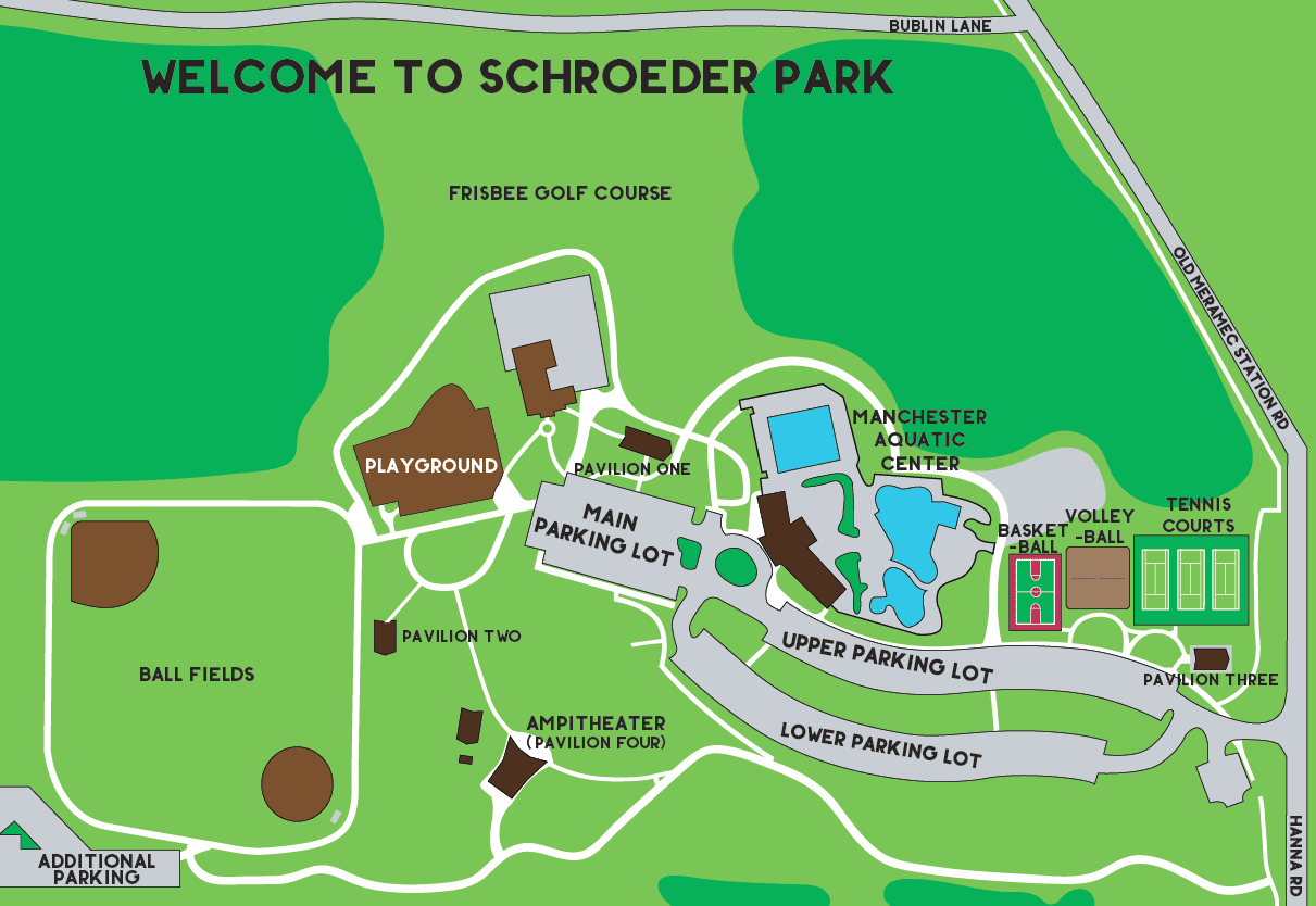 Schroeder Park Map for Parking (PNG)