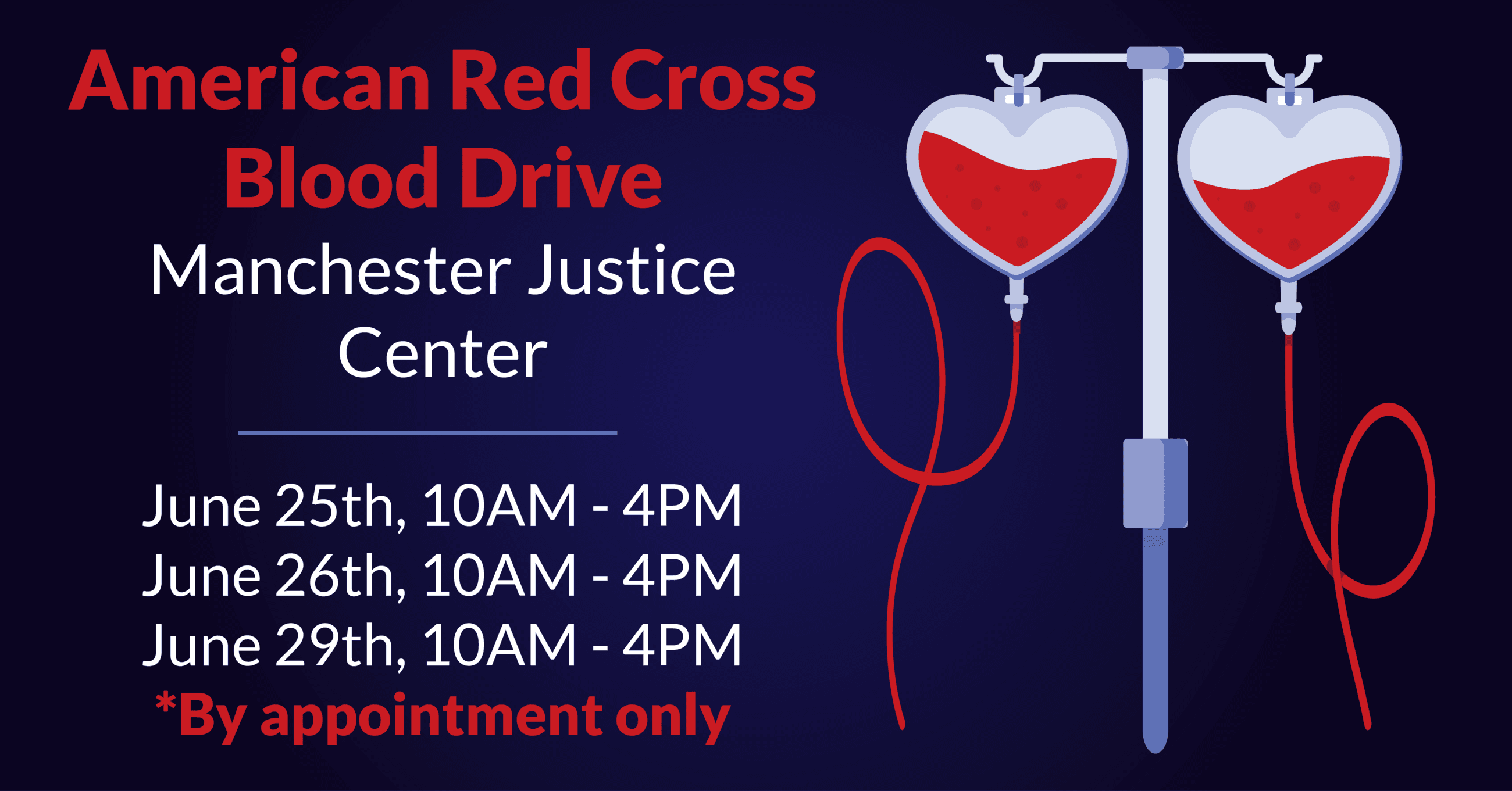 Blood Drive at Justice Center